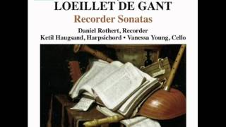 Loeillet:  Sonata in a minor, op. 1 no. 1 - 4. Giga, Allegro.wmv