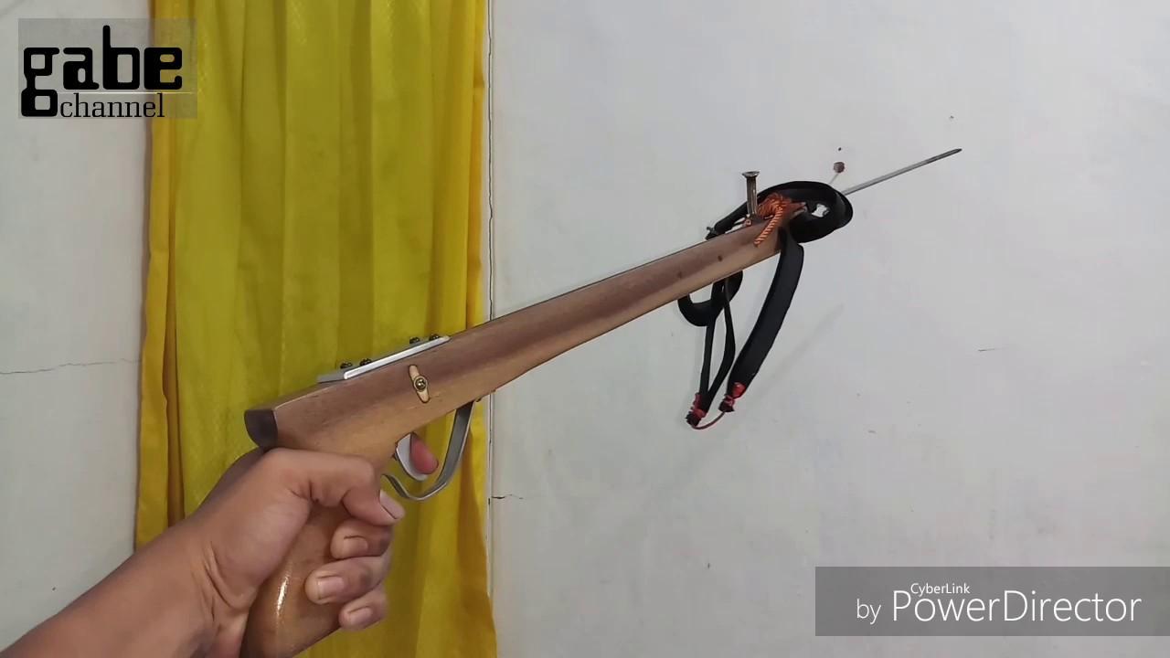 DIY Speargun. membuat tembak ikan anti ribet sangat