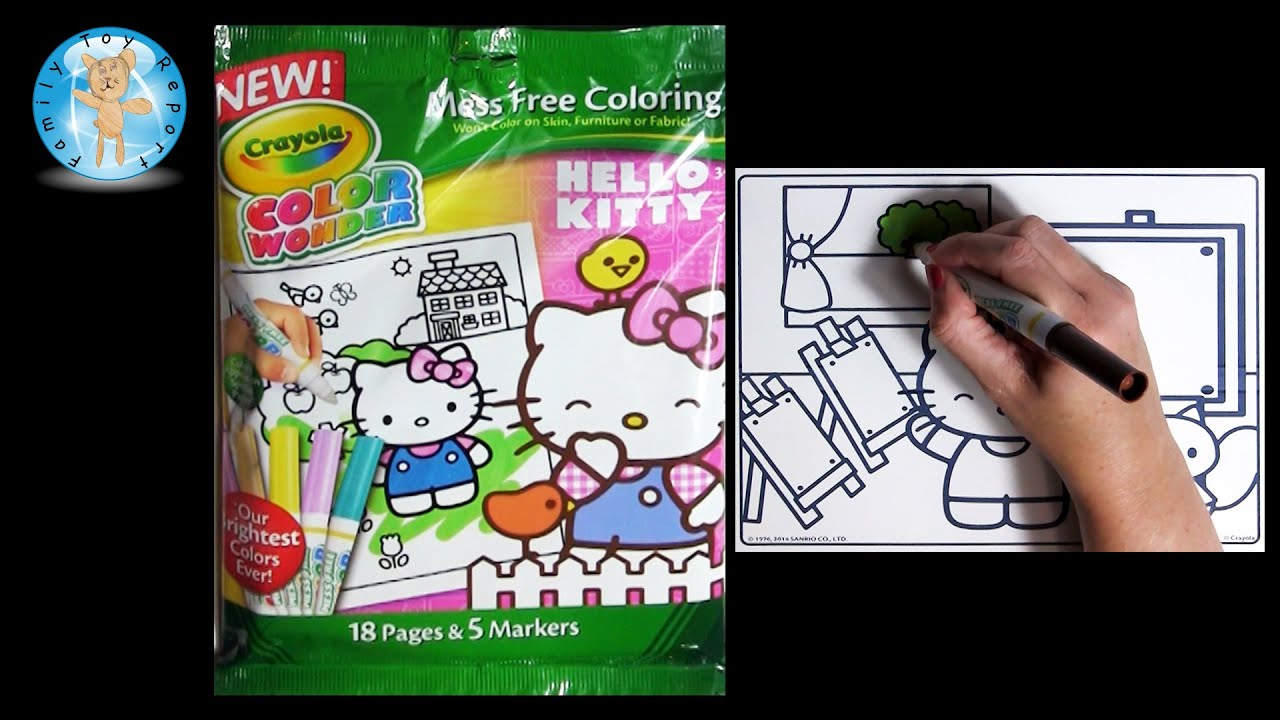 Crayola Color Wonder HELLO KITTY Coloring Book