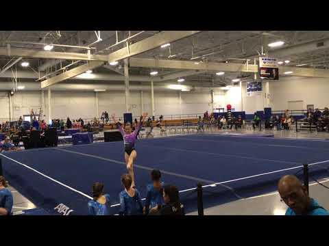 Gymnastics Level 4 floor routine Rockstar Meet 2018