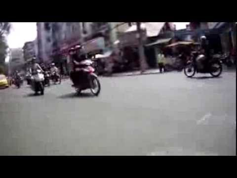Crossing the street in Ho Chi Minh City #1