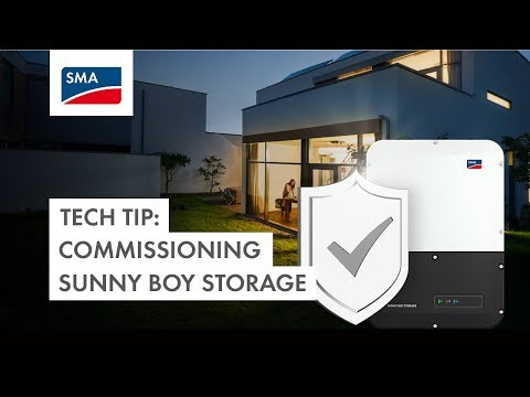 Tech Tip: How to commission the Sunny Boy Storage 3.7, 5.0, 6.0?
