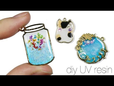 How to DIY Watch me Uv Resin: Lucky Cat, Flower Jar, Jellyfish Sea/Ocean Bezel Charms