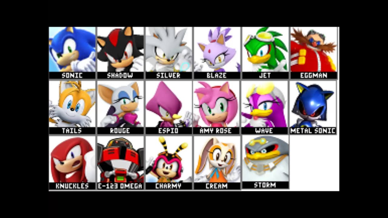 Sonic Rivals 3 Roster Youtube