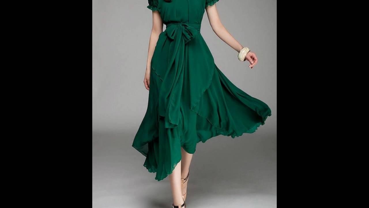 Imagenes de vestidos de color verde esmeralda