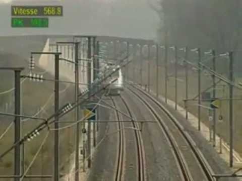 TGV France High-speed rail Record 2007
