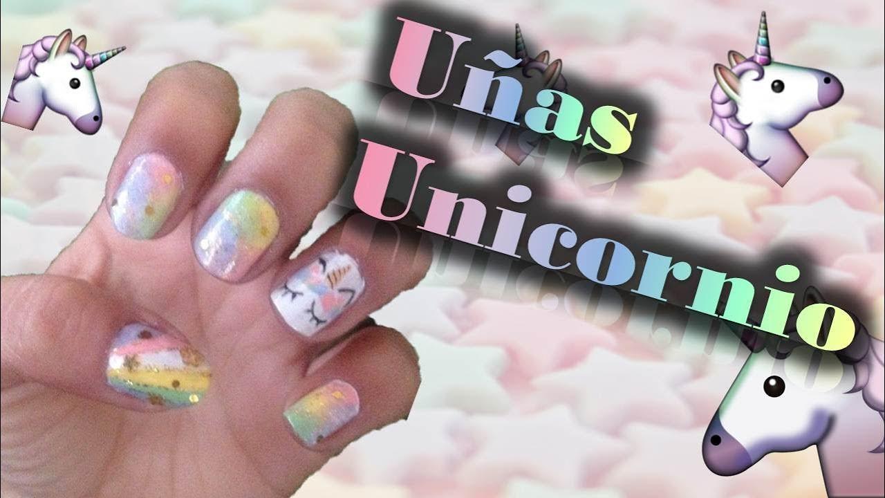 Decoracion De Uñas Unicornio Nail Art Youtube