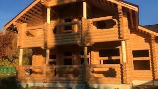 Гостевой дом баня из оцилиндрованного бревна