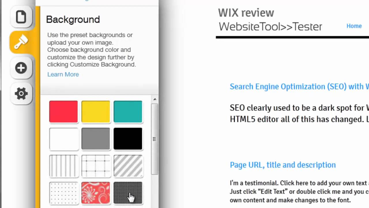 Wix HTML5 editor: how it works