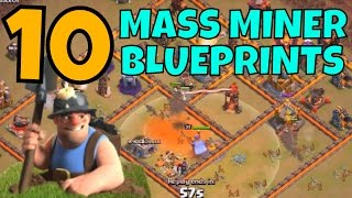 Clash Of Clans :: 10 Mass Miner Blueprints for Th11 - Ring Base & Anti 3 Strategy Focus
