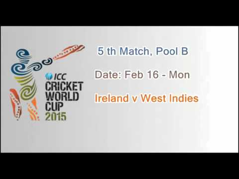 ICC World cup 2015  and match schedule