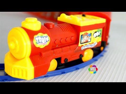 لعبة القطار الاحمر الحقيقى الجديد للاطفال العاب القطارات بنات واولاد Real New Train Game Toy