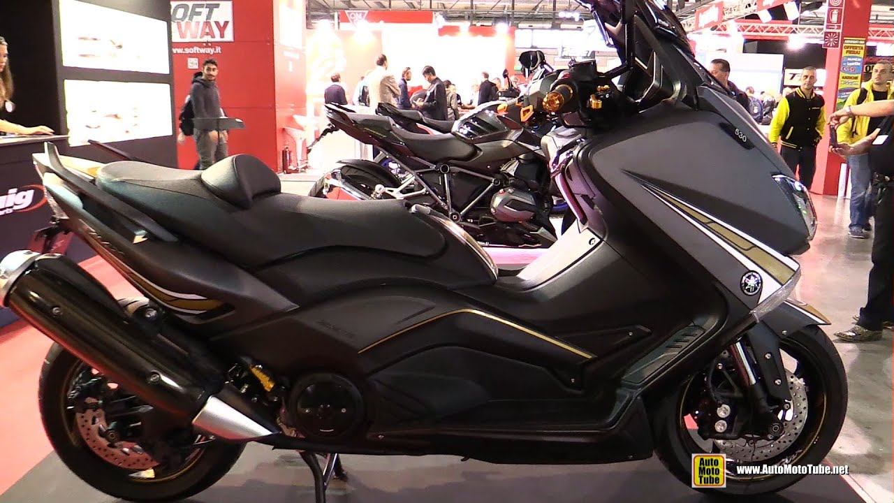 2015 yamaha tmax 530 customized by puig walkaround. Black Bedroom Furniture Sets. Home Design Ideas