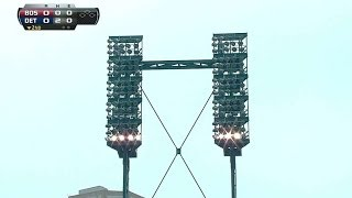 Lights go out at Comerica Park