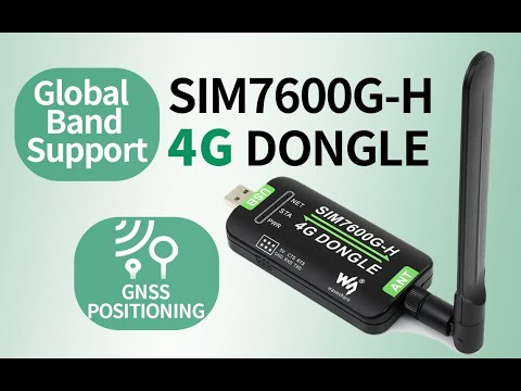 SIM7600G-H 4G DONGLE GNSS Positioning Global Band Support