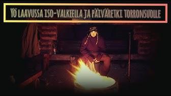 YÖ LAAVUSSA ISO-VALKEELLA JA PÄIVÄRETKI TORRONSUOLLE | Retkiruoka: Pekoni-Juusto Hampurilainen