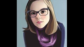 Рисунок, портрет, на планшете в SAI #3