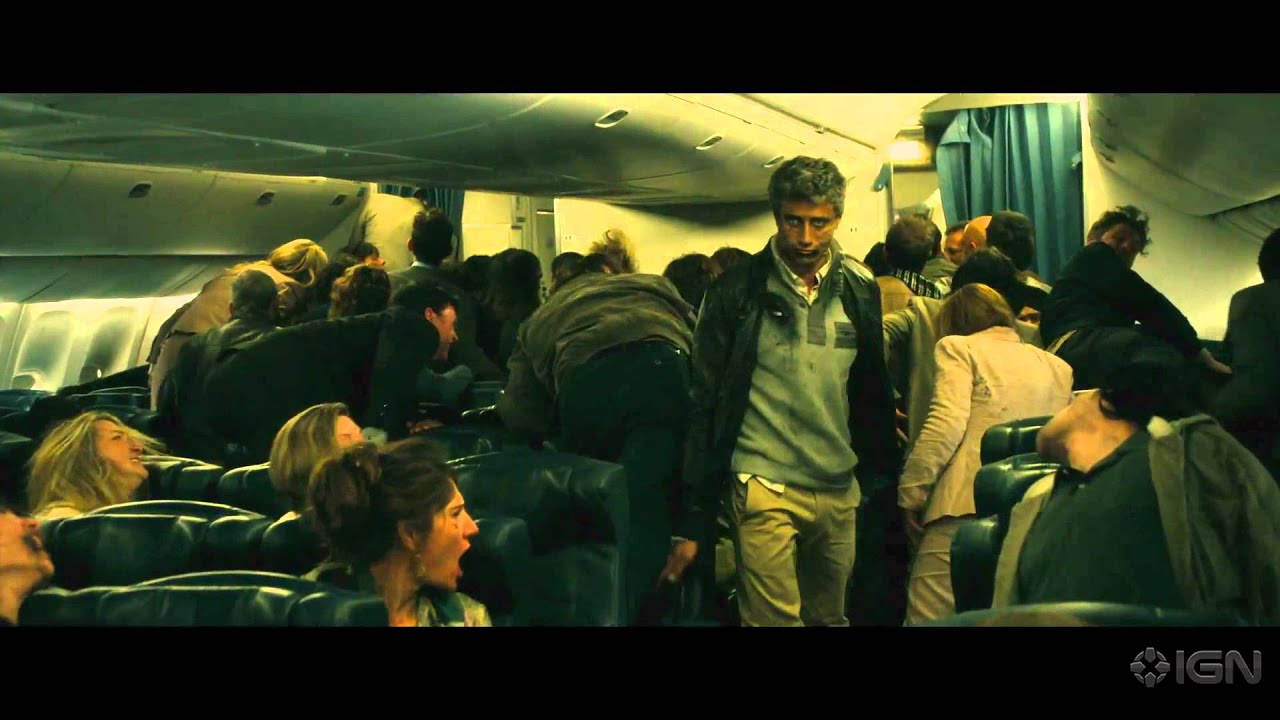 world war z quotairplane attackquot clip youtube
