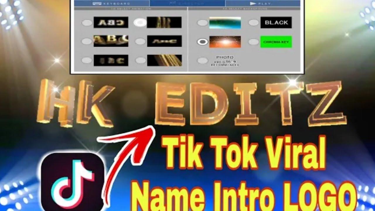 Tik Tok 3d Name Animated Video Editing How To Make Tiktok 3d Name Video Flying Logo App Review Youtube