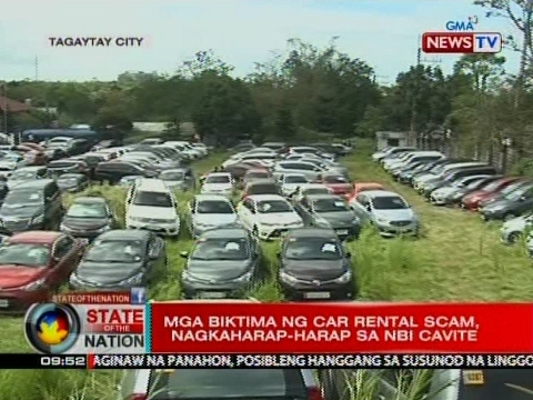 Isa sa mga suspek ng car rental scam, mahigpit na binantayan ng mga biktima para 'di raw makalaya