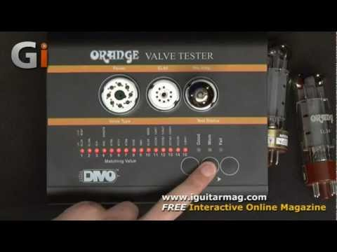 Orange Debuts Revolutionary DIVO VT1000 Tube Tester at NAMM 2013  Watch our