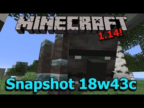 Minecraft 1.14 Snapshot 18w43c- Illager Beast Changes, New Commands, Lighting rewrite!