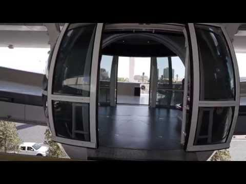 An Epic ride on The tallest Ferris Wheel in the world, The High Roller in Las Vegas.