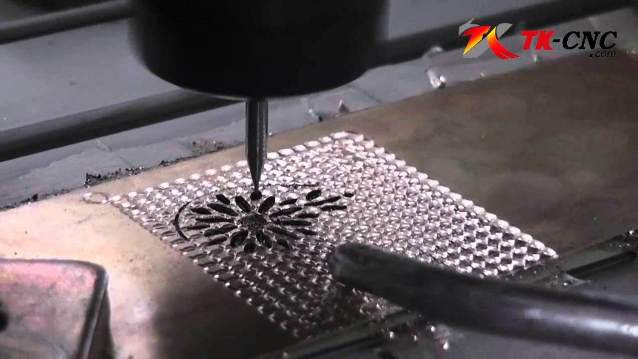 cnc router cutting metal plate  YouTube