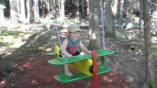 Mickael (2.5 Yrs Old) Flys Our John Deere Swing