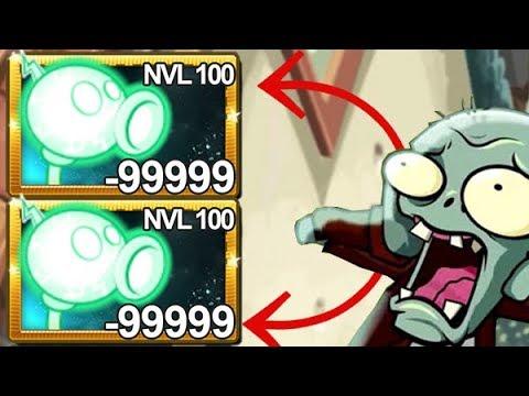 Plants Vs Zombies 2 Super Lanzaguisantes Eléctrico Nivel 100
