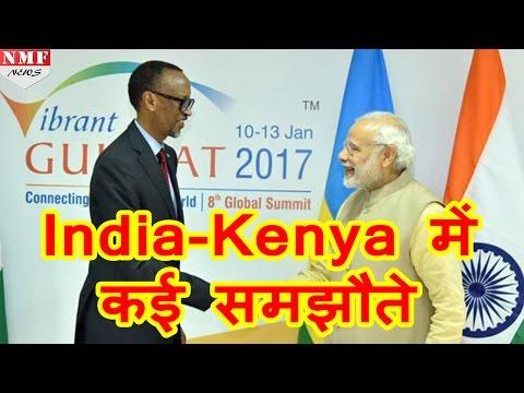India ने Kenya के साथ किए कई Agreement,  Mr Uhuru Kenyatta संग PM Modi की वार्ता