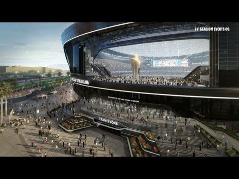 Raiders Stadium: Biggest door in city, and grass that moves
