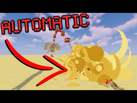 Automatic TNT Cannon Tutorial | Easy Simple TNT Cannons