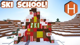 Ski Rental Shop Christmas Village Part 3 Minecraft Tutorial