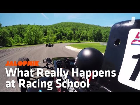 Here's What Happens At A Real Racing School