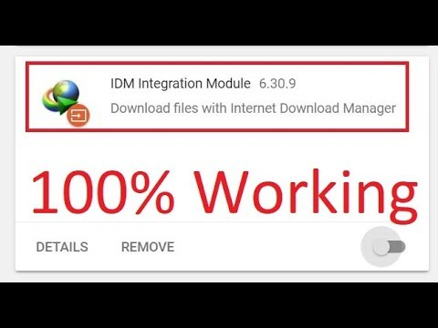 IDM is not working on youtube google chrome 2018