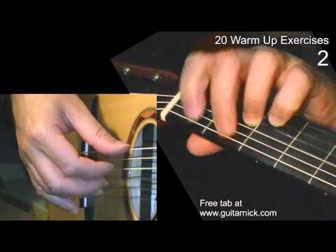 WARM UP Fingerstyle Exercise 2 - Guitar Lesson + TAB by GuitarNick