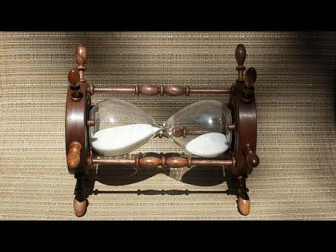 Reloj De Arena Con Diseño De Timón Hecho En Nogal Youtube