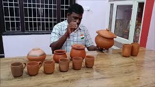 Clay deep pot for multi purpose use | बहु प्रयोजन के उपयोग के लिए मिट्टी के गहरे बर्तन