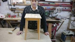 видео Складной деревянный стул своими руками: материалы, технология сборки
