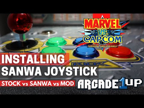 Installing a Sanwa Joystick on a Arcade 1UP from ColdSpace Music