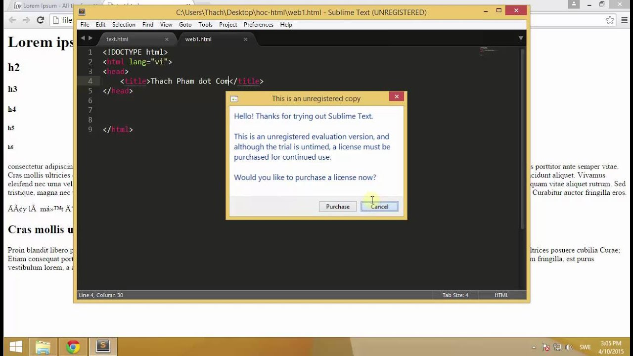 [Học HTML – 03] Tạo tài liệu web HTML