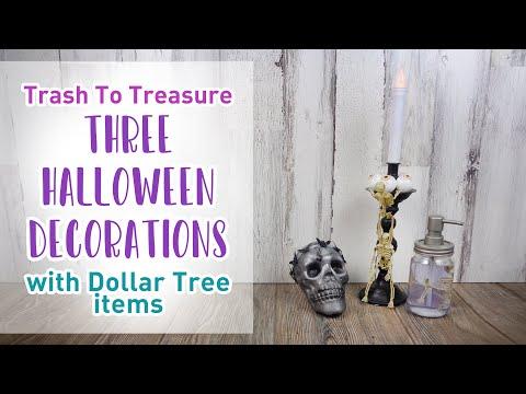 Halloween 2020 Challenge 3 DIY Thanksgiving/Halloween Challenge: 3 Trash To Treasure & Dollar