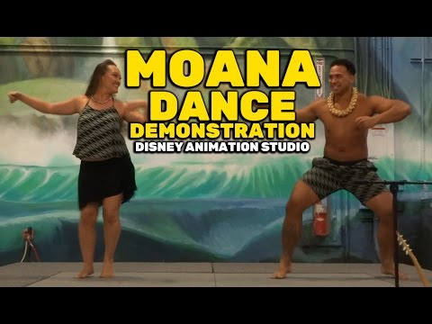 """Moana"" Pacific Island dance demonstration at Walt Disney Animation Studio"