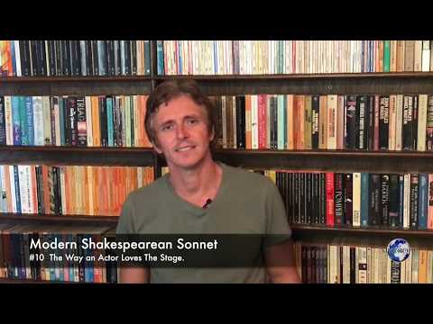 Modern Shakespearean Sonnet 10. The Way an Actor Loves The Stage, by Andrew Barker