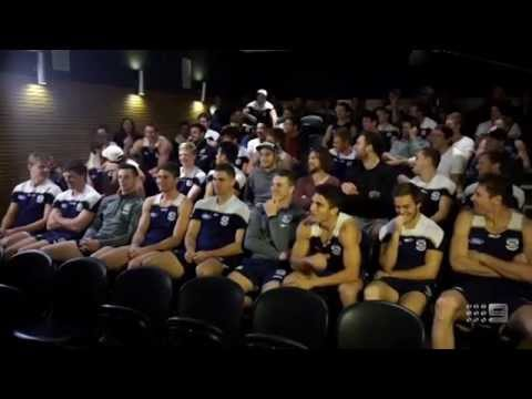 Hughesy sprays the Geelong Cats