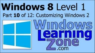 Microsoft Windows 8 Tutorial Part 10 of 12: Configuring Windows 2
