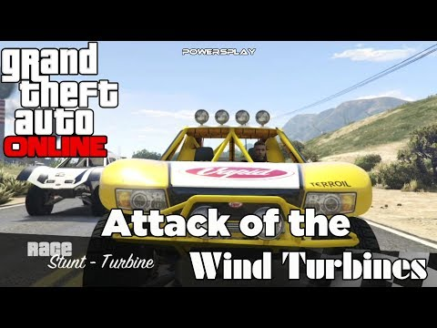 Grand Theft Auto 5 Online - Wind Turbines - Stunt Race