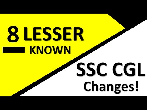 SSC CGL Changed Pattern 2017 | 19 June Last date