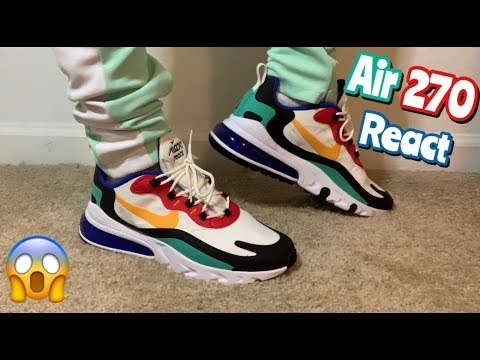 Nike Air Max 270 React On Feet Review Youtube